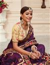 picture of Purple Color Function Wear Art Silk Fabric Alluring Embroidered Saree