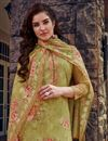 photo of Green Color Casual Wear Georgette Fabric Embroidered Palazzo Suit