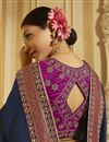 photo of Sangeet Wear Art Silk Navy Blue Color Saree With Embroidered Blouse