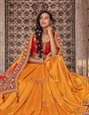 photo of Function Wear Art Silk Fabric Embroidery Work On Saree In Orange Color With Alluring Blouse