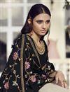 photo of Festive Wear Designer Palazzo Salwar Suit In Black Color Chinon Fabric
