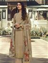image of Cream Color Georgette Fabric Party Wear Designer Salwar Palazzo Suit