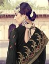 photo of Function Wear Georgette Designer Embroidered Palazzo Dress In Black
