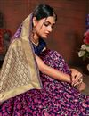 photo of Weaving Work Rani Color Art Silk Fabric Party Wear Saree With Blouse