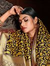photo of Yellow Color Art Silk Fabric Designer Weaving Work Saree With Party Wear Blouse