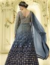 picture of Prachi Desai Grey Embroidered Net Fabric Party Wear Floor Length Anarkali Dress