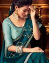 photo of Teal Color Wedding Wear Designer Saree In Art Silk Fabric