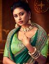 photo of Dark Green Color Art Silk Fabric Festive Wear Saree
