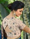 picture of Prachi Desai Embroidery Work On Navy Blue Designer Saree In Art Silk Fabric