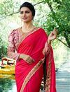 picture of Prachi Desai Embroidery Work On Crimson Art Silk Designer Saree