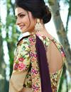 picture of Prachi Desai Embroidery Work On Wine Art Silk Party Wear Saree