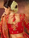 photo of Red Color Art Silk Fabric Wedding Wear Saree With Weaving Work And Gorgeous Blouse