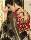 photo of Eid Special Banarasi Silk Black Function Wear Weaving Work Saree With Embroidered Blouse