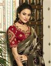 picture of Eid Special Banarasi Silk Black Function Wear Weaving Work Saree With Embroidered Blouse
