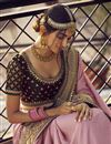 photo of Sangeet Wear Art Silk Fabric Chic Saree With Embroidered Blouse In Pink Color