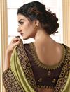 photo of Mehendi Green Color Party Wear Alluring Art Silk Fabric Embroidered Saree