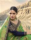 picture of Art Silk Wedding Function Wear Green Saree With Heavy Blouse