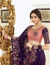 photo of Party Style Purple Color Trendy Art Silk Fabric Embroidered Saree