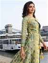 photo of Prachi Desai Fancy Sky Blue Party Wear Art Silk Kurti With Koti