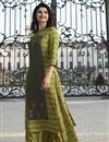 image of Prachi Desai Rayon Fabric Fancy Festive Wear Printed Kurti In Green With Palazzo