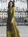 image of Prachi Desai Green Rayon Fabric Party Style Printed Kurti With Palazzo