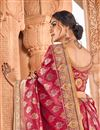 photo of Pink Color Fancy Art Silk Fabric Function Wear Weaving Work Saree