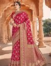 image of Pink Color Fancy Art Silk Fabric Function Wear Weaving Work Saree
