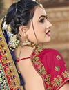 photo of Trendy Art Silk Function Wear Navy Blue Embroidered Saree