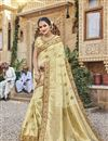 image of Trendy Art Silk Beige Function Wear Embroidered Saree