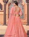 photo of Wedding Wear Peach Color Sequins Work Lehenga Choli In Georgette Fabric
