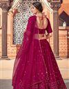 photo of Burgundy Color Sequins Work Wedding Wear Lehenga Choli In Georgette Fabric