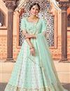 image of Sea Green Color Wedding Wear Georgette Fabric Sequins Work Lehenga Choli