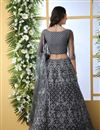 photo of Embroidered Net Fabric Bridal Lehenga In Grey Color with Designer Choli