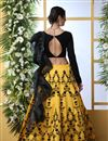 photo of Eid Special Embroidered Yellow Color Bridal Lehenga In Art Silk Fabric With Designer Choli
