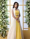 image of Yellow Color Wedding Wear 3 Piece Lehenga Choli In Georgette Fabric With Designer Koti