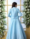 photo of Art Silk Fabric Sky Blue Color Reception Wear Lehenga Choli With Designer Koti