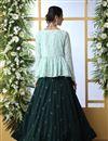 photo of Dark Green Color Cotton Fabric Wedding Wear 3 Piece Lehenga Choli With Designer Koti