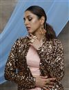 photo of Sangeet Wear Net Fabric Thread Embroidered Pink Color Lehenga With Jacket