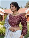 photo of Net Fabric Off White Color Designer 3 Piece Lehenga Choli