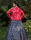 picture of Net Fabric Navy Blue Color Occasion Wear Lehenga Choli