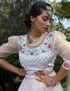 photo of Pink Color Net Fabric Festive Wear Lehenga Choli