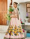 photo of Eid Special Embroidered Pink Bridal Lehenga In Art Silk Fabric With Designer Choli
