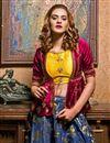 photo of Embroidery Work Designer Art Silk Fabric Navy Blue Color Wedding Wear Lehenga