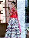 photo of Light Blue Designer Embroidered Lehenga Choli In Art Silk Fabric With Alluring Blouse