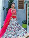 image of Light Blue Designer Embroidered Lehenga Choli In Art Silk Fabric With Alluring Blouse