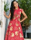 photo of Red Beguiling Designer Art Silk Girls Wear Gown
