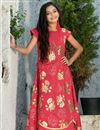 image of Red Beguiling Designer Art Silk Girls Wear Gown
