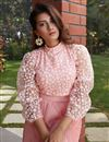 photo of Exclusive Pink Color Fancy Fabric Party Wear Indo Western Top And Printed Skirt