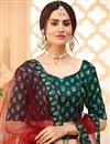 photo of Printed Sangeet Wear Stylish Lehenga Choli In Dark Green Color Art Silk Fabric