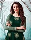 photo of Party Style Dark Green Color Designer Gown In Net Fabric